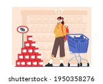 young woman customer character...   Shutterstock .eps vector #1950358276