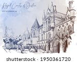 the royal courts of justice a... | Shutterstock .eps vector #1950361720