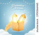 ramadan kareem font with golden ... | Shutterstock .eps vector #1950366460