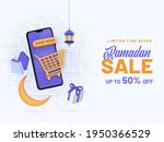 up to 50  off for ramadan sale... | Shutterstock .eps vector #1950366529