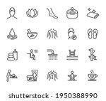vector set of spa line icons....   Shutterstock .eps vector #1950388990