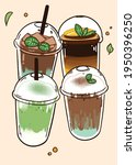 illustration drawing set drink... | Shutterstock .eps vector #1950396250