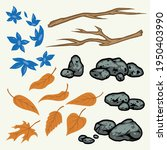 nature elements colorful... | Shutterstock .eps vector #1950403990