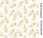 golden seamless pattern with... | Shutterstock .eps vector #1950421363