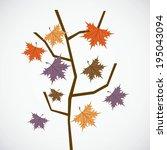 seasons design over white... | Shutterstock .eps vector #195043094