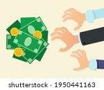 hands reach for money. free... | Shutterstock .eps vector #1950441163