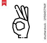 ok icon vector design. hand...
