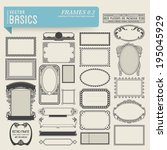 vector basics  frames  2    set ... | Shutterstock .eps vector #195045929
