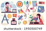 collection of school... | Shutterstock .eps vector #1950500749