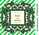 wedding invitation cards with... | Shutterstock .eps vector #195050444