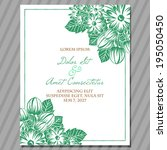 wedding invitation cards with... | Shutterstock .eps vector #195050450