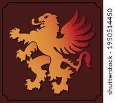 simple manticore icon. lion... | Shutterstock .eps vector #1950514450