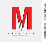 letter m logo design with red... | Shutterstock .eps vector #1950530866