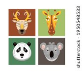 animal faces. vector... | Shutterstock .eps vector #1950548533