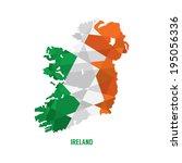 map of ireland vector...   Shutterstock .eps vector #195056336