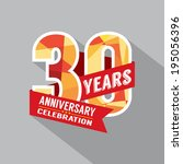 30th year anniversary... | Shutterstock .eps vector #195056396