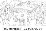 vector graphics  mushroom house ... | Shutterstock .eps vector #1950570739