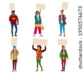 collection of protesters crowd...   Shutterstock .eps vector #1950576673