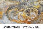Yellow And Gray Fluid Art...