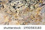Gold Modern Fluid Art Background