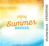 summer typographic design | Shutterstock .eps vector #195059540