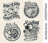 extreme surfing vintage prints...   Shutterstock .eps vector #1950597643