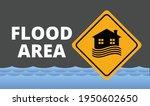 flood area sign  natural...   Shutterstock .eps vector #1950602650