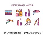 cosmetic products and... | Shutterstock .eps vector #1950634993