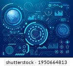abstract digital technology sci ... | Shutterstock .eps vector #1950664813