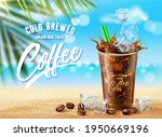 new iced coffee ads on summer... | Shutterstock .eps vector #1950669196