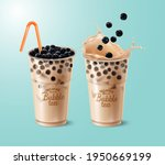 new bubble milk tea ads with... | Shutterstock .eps vector #1950669199