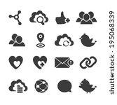 set of vector social network... | Shutterstock .eps vector #195068339