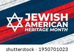 jewish american heritage month  ...   Shutterstock .eps vector #1950701023
