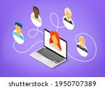 people working together...   Shutterstock .eps vector #1950707389