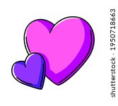 illustration of hearts.... | Shutterstock .eps vector #1950718663