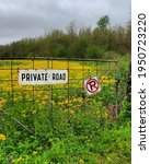 Private Country Road With...