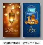 ramadan kareem banners with... | Shutterstock .eps vector #1950744163