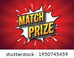 match prize  font expression...   Shutterstock .eps vector #1950745459