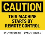 this machine starts by remote... | Shutterstock .eps vector #1950748063