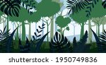 jungle tropical forest...   Shutterstock .eps vector #1950749836