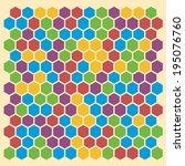 hexagon pattern | Shutterstock . vector #195076760