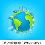 world travel illustration with...   Shutterstock .eps vector #1950793996