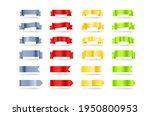color metallic banners set....   Shutterstock .eps vector #1950800953