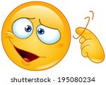 emoticon showing a screw loose... | Shutterstock .eps vector #195080234