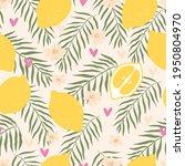 summer lemon citrus fruit... | Shutterstock . vector #1950804970