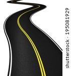 curved asphalt road 3d...   Shutterstock . vector #195081929