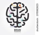 infographics vector brain... | Shutterstock .eps vector #195082823