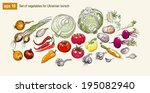 vector illustration set of... | Shutterstock .eps vector #195082940