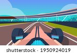 race car driving road online... | Shutterstock .eps vector #1950924019
