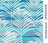 seamless modern botanical... | Shutterstock .eps vector #195092450